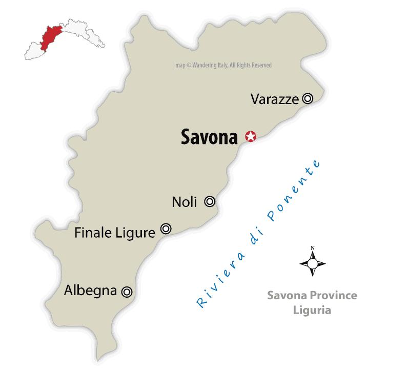 savona province map