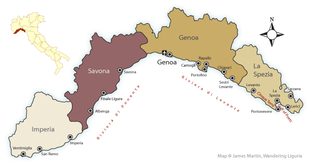 Map Of Germany And Italy With Cities.Map Of Liguria Provinces And Major Cities Wandering Liguria