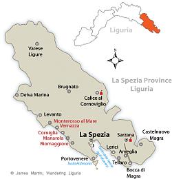 la spezia province map