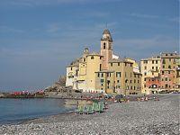 Camogli, Italian Riviera, Swimming beach