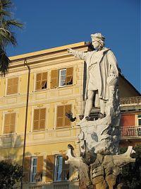 The monument to Christopher Columbus in Santa Margherita Ligure