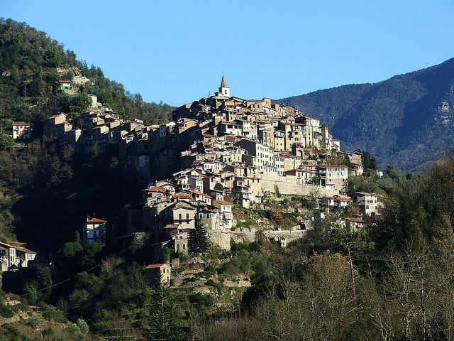 Apricale, one of the Rock Villages of the Western Riviera